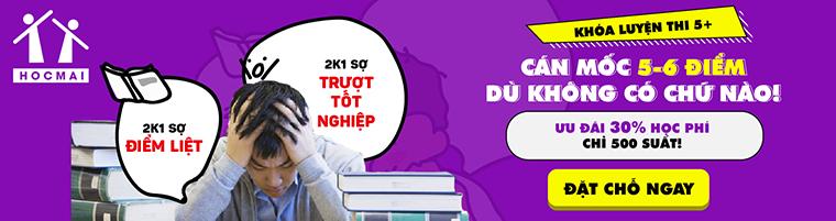 Luyện thi THPT quốc gia 5+ môn Tiếng Anh