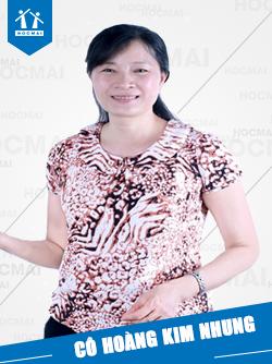 Cô: Hoàng Kim Nhung