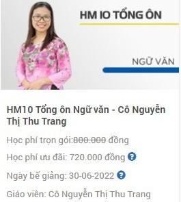 HM10 tổng ôn môn Ngữ văn